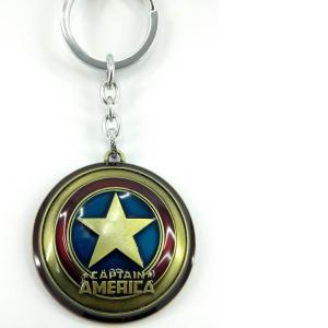 Llavero Metálico De Colección Escudo Capitán América Marvel Cómics