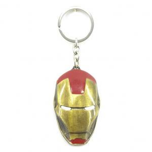 Llavero Metálico De Colección Mascara Iron Man Marvel Comics
