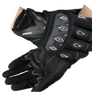 Guantes Moto Scoyco Con Protección Nudillos Anti Deslizantes Color Negro