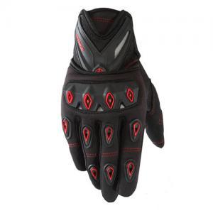 Guantes Moto Scoyco Con Protección Nudillos Anti Deslizantes Color Rojo