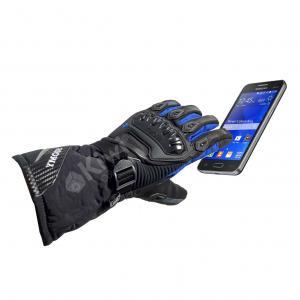 Guantes Moto Tactiles Con Proteccion 100% Impermeables Caña Larga Marca Suomy Azul