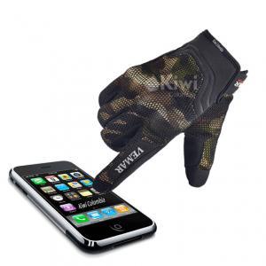 Guantes Para Moto Camuflados Con Tactil Para Celular Marca Vemar
