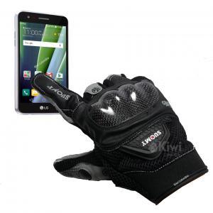 Guante Para Moto Con Proteccion Con Tactil Marca Suomy Color Negro