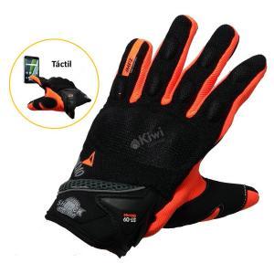 Guantes Para Moto Semi Impermeables Con Tactil Y Proteccion Marca Dimo Color Naranja