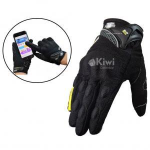 Guantes Para Moto Semi Impermeables Con Tactil Y Proteccion Marca Dimo Color Negro