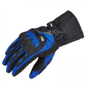 Guantes Térmicos 100 % Impermeables Marca Axe Racing Para Moto Con Protección Color Azul