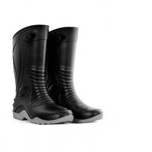 Botas De Caucho Motociclista Moto 100% Impermeable Negro / Gris