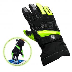 Guantes Moto Scoyco 100% Impermeable Tactil Reflectivo Color Verde