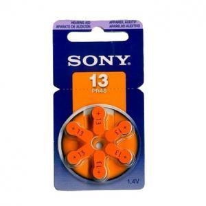 Pila Auditiva Bateria Audifonos Sony 13 Pr48 6 Unidades