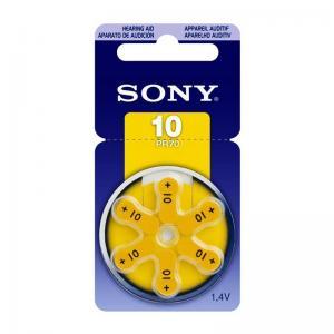 Pila Auditiva Bateria Audifonos Sony 10 Pr70 6 Unidades