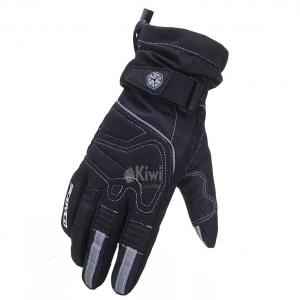 Guantes Moto Scoyco 100% Impermeable Tactil Reflectivo Color Negro