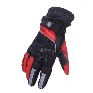 Guantes Moto Scoyco 100% Impermeable Tactil Reflectivo Color Rojo